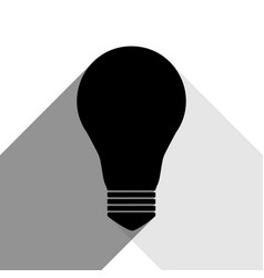 light lamp sign black icon with two flat vector image