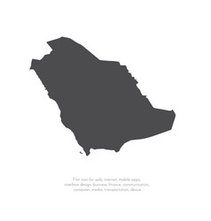 map saudi arabia isolated vector image