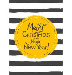 merry christmas - gold glittering lettering design vector image