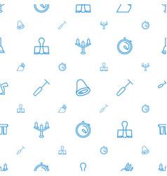 Metallic icons pattern seamless white background vector