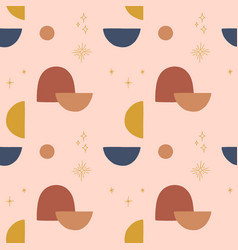 modern terracotta abstract seamless pattern vector image