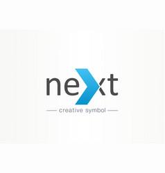 Next arrow creative symbol concept forward vector