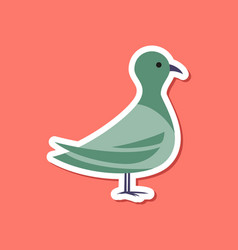 paper sticker on stylish background dove vector image