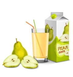 Pear juice set vector image
