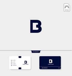 Premium initial b bb 13 3 or eb outline creative vector