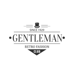 Retro Fashion Gentleman Club Label Design vector image