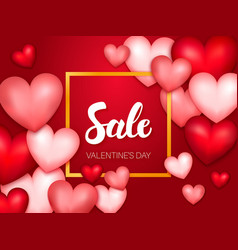 Sale valentine day banner vector