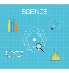 Science background flat desing vector