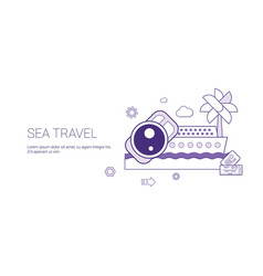 sea travel and vacation concept summer cruise vector image