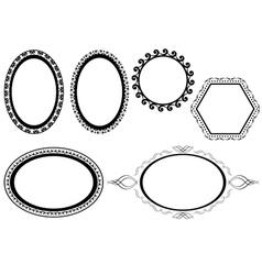 Set of black frames vector