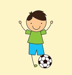 soccer design vector image