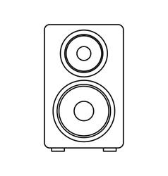 Speaker audio device icon vector