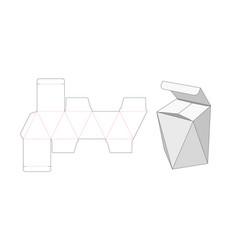 Special box die cut template design vector