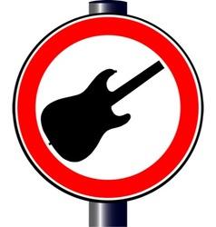 Spoof guitar traffic sign vector