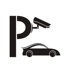 Symbol of guarded parking vector