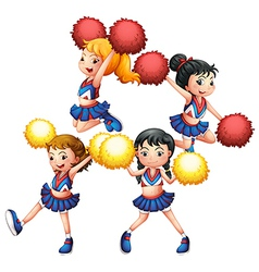 The energetic cheering squad vector image