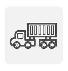 trailer truck icon vector image