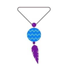 Tribal pendant amulet with vector