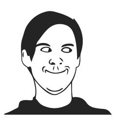 Troll guy meme face for any design vector