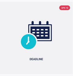 Two color deadline icon from creative pocess vector