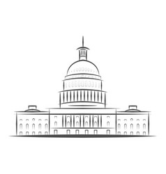 united states government icon capitol building vector image