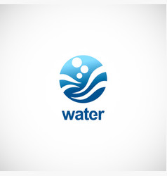 water round wave logo vector image