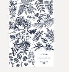 wedding invitation rsvp greeting card design vector image