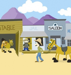 western town vector image