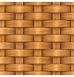 Wooden basket weaving vector