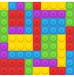 blocks plastic constructor vector image