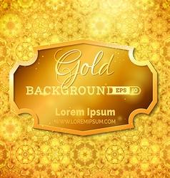 Luminous gold background vector