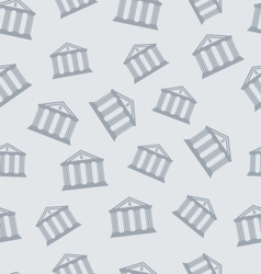 Seamless Pattern with Building of Bank vector image vector image