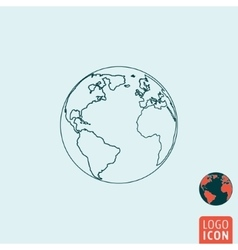 Earth icon isolated vector image