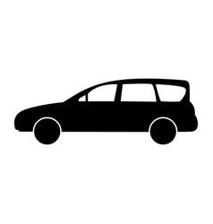 Family car the black color icon vector