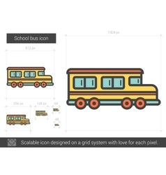 School bus line icon vector image vector image
