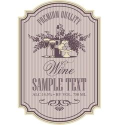 Wine retro label vector
