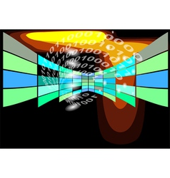 abstract background with binary code vector image vector image