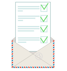 envelope with letter flat vector image