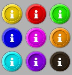 Information info icon sign symbol on nine round vector