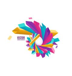 Multicolored geometric vector