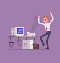 office prtinter error vector image