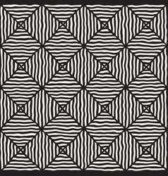 rhombus rough hand drawn lines seamless vector image