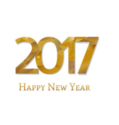 2017 new year text vector image vector image