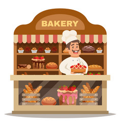 Bakery shop design concept vector