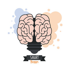 brain design mind concept white background vector image vector image