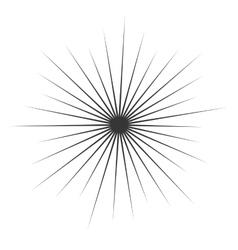 Comic Book monochrome Explosion vector image