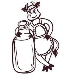 cow milk vector image