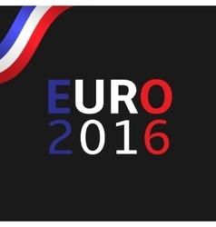 Euro 2016 vector image