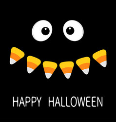 happy halloween scary face smiling emotions big vector image vector image