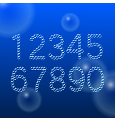 Numbers 0-9 of Air Bubbles vector image vector image